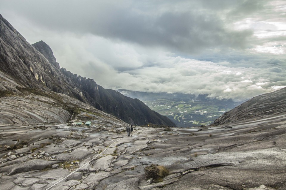 Panorama view from the top of the mount kinabalu climb