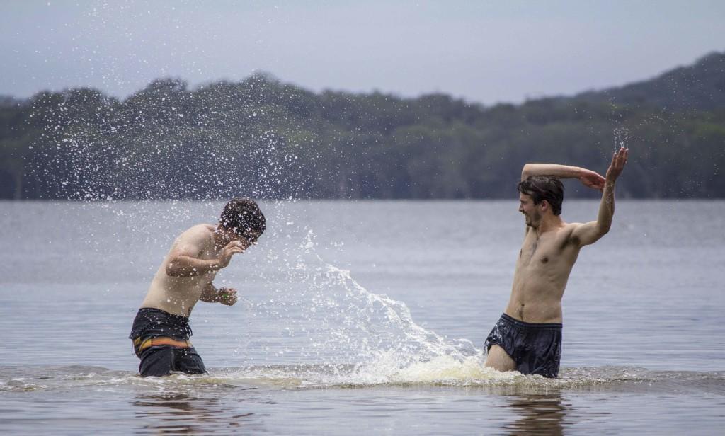 Action photo at Myall Lakes
