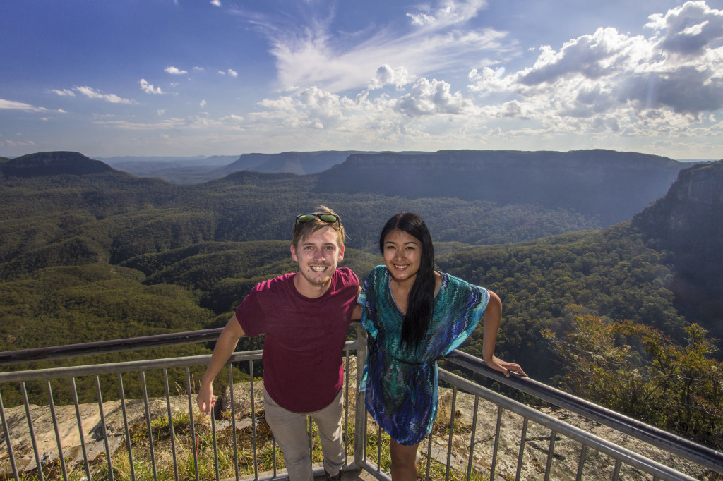 Portrait photo over Blue Mountains National Park