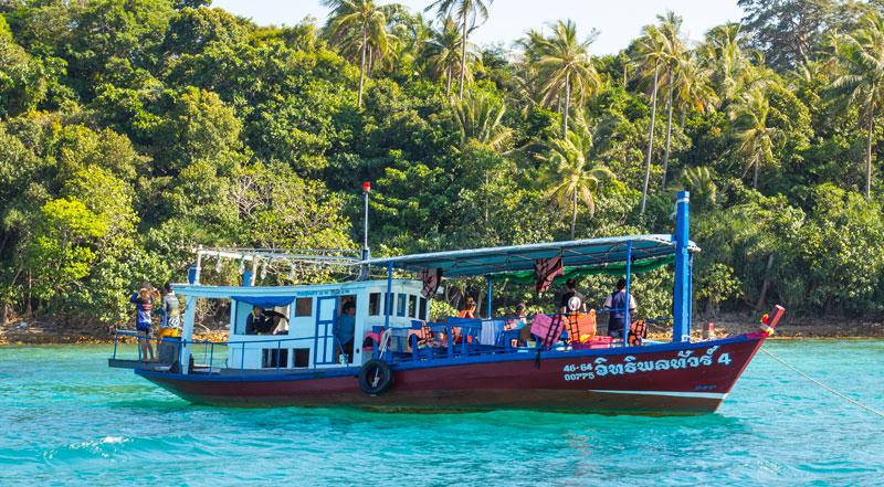 Koh Chang island hopping boat