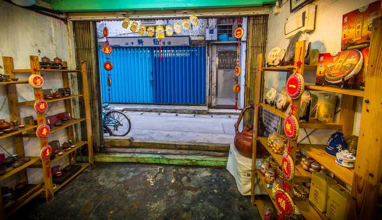 Cheung Chau Island Tea House Shelves