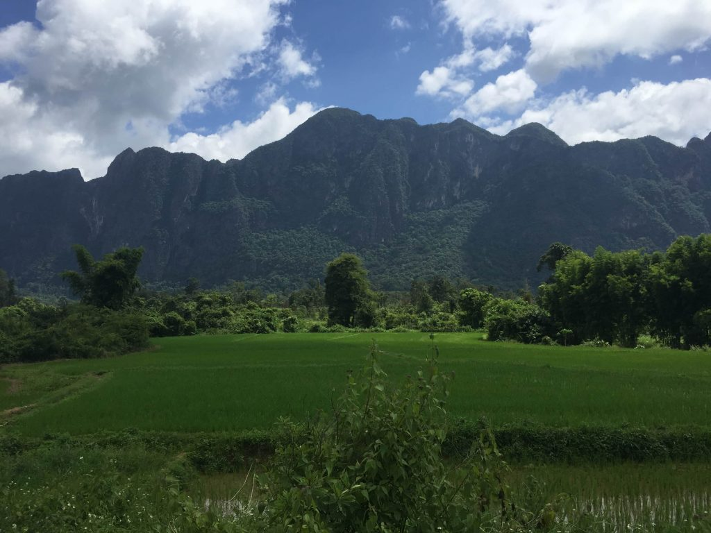 Limestone Mountains on the Thakhek Loop