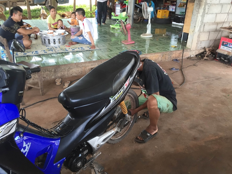 Mechanic Fixing my Flat Tire