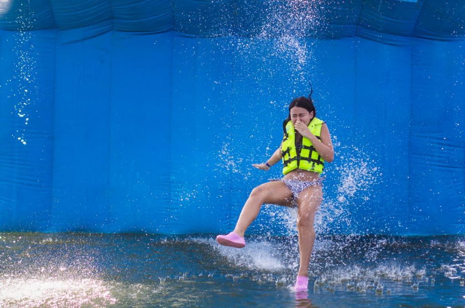 Wipeout at Splashdown Waterpark Pattaya