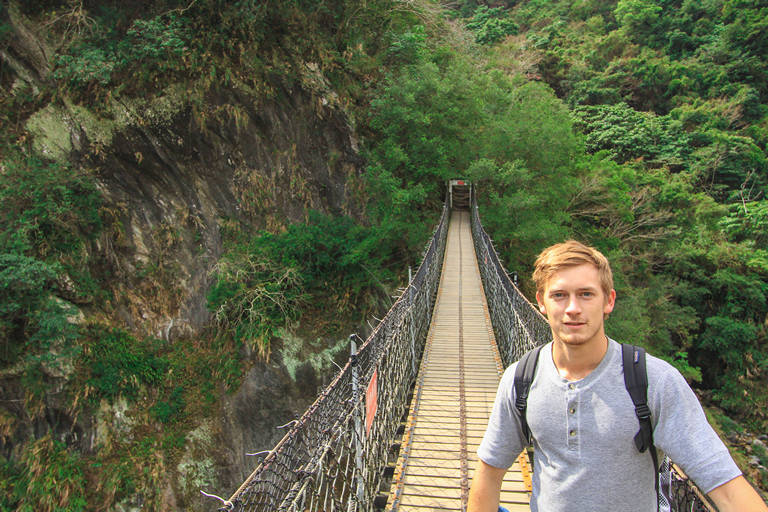 Suspension bridge in taroko national park