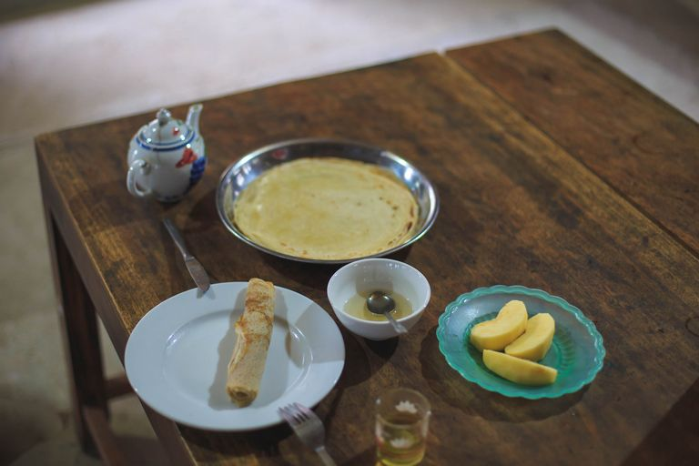 Breakfast at the Kieu Chinh Homestay