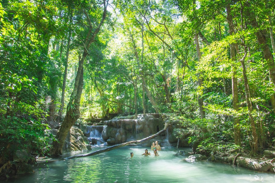 Erawan Falls Swimming
