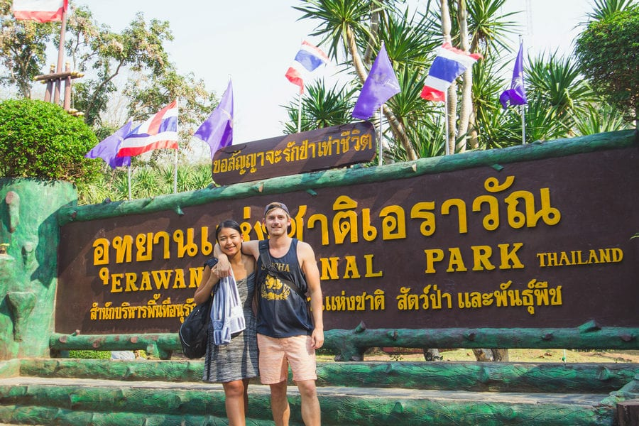 Erawan National Park Entrance