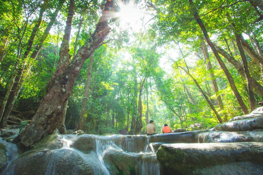 Erawan National Park Thailand - Waterfalls, Hiking, Caves