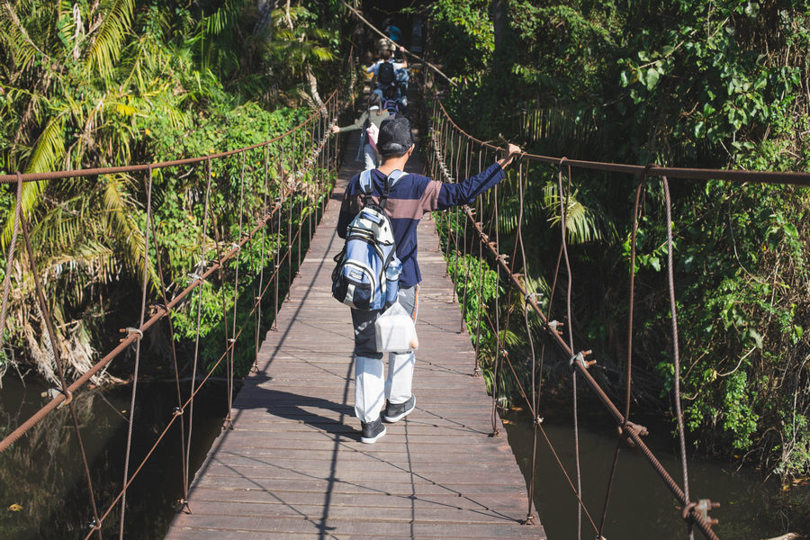 Suspension Bridge at Khao Yai National Park