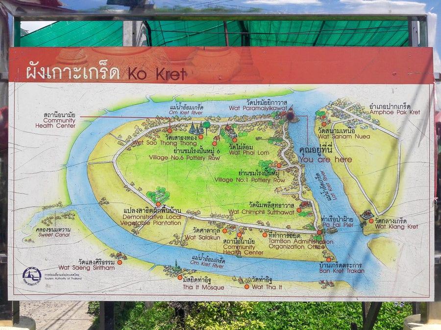 Koh Kret Map