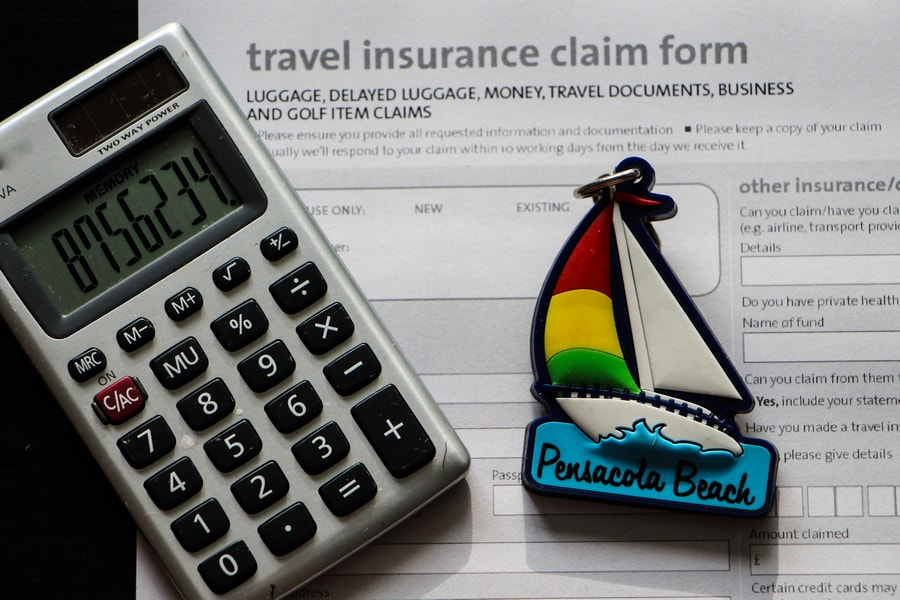 Travel insurance costs
