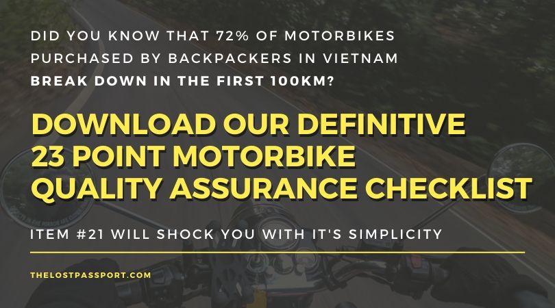 motorbike quality checklist