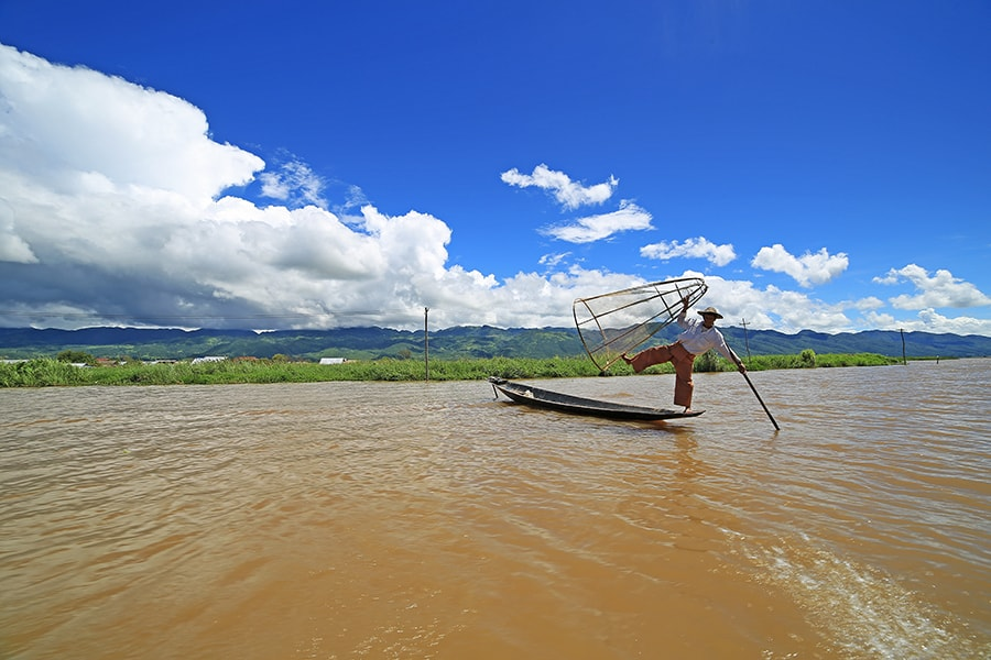 Iconic Fishermen in Inle Lake