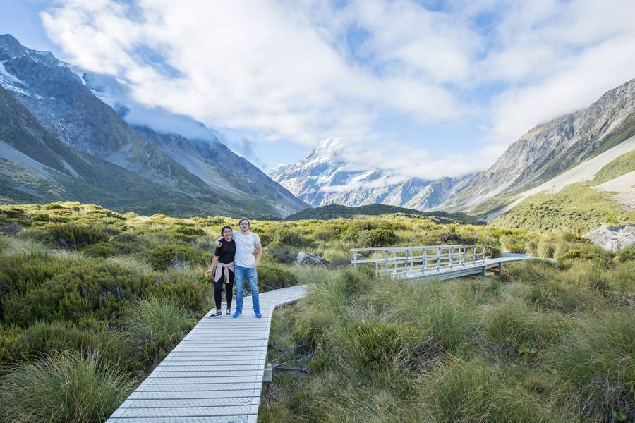 Hooker Valley Track boardwalk
