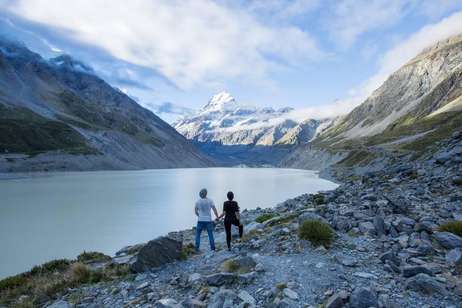 Mount Cook over Hooker Lake
