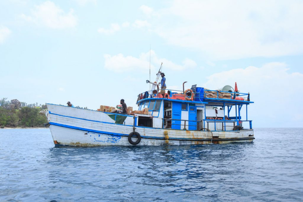 Taking a Cargo Boat in Vanuatu