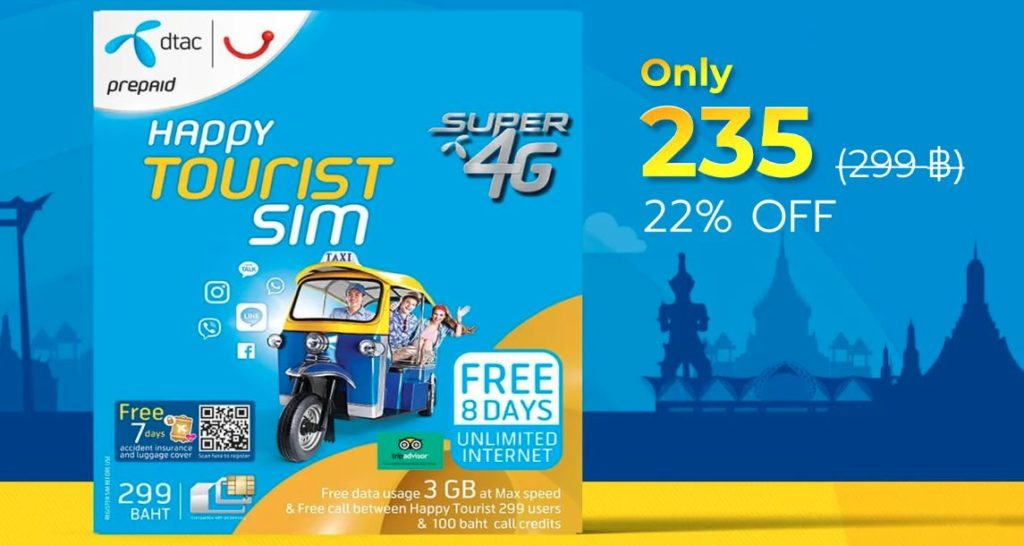 DIscounted Thailand Sim Card - DTAC