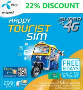 Discount Thailand Sim Card