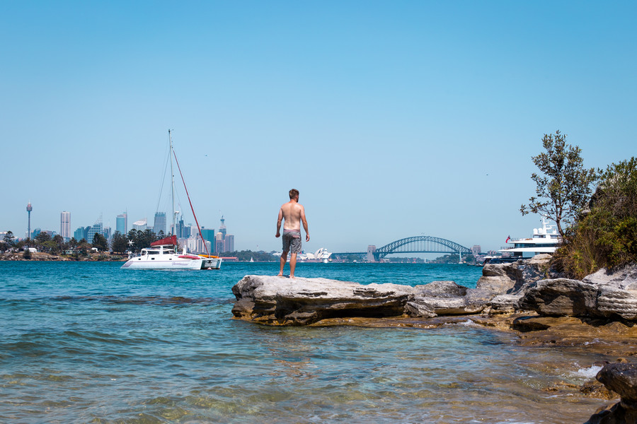 Milk Beach and Sydney Harbour Bridge