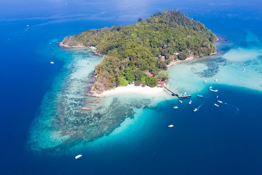 Sapi Island in Tunku Abdul Rahman Marine Park