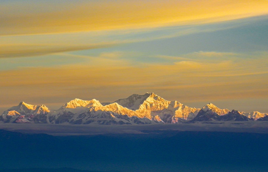 View of Mount Kanchenjunga from Tiger Hill