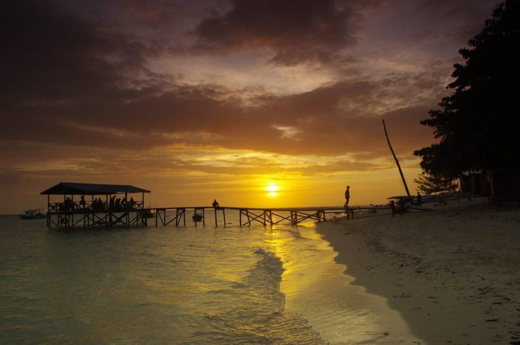 Sunset on Mantanani Island